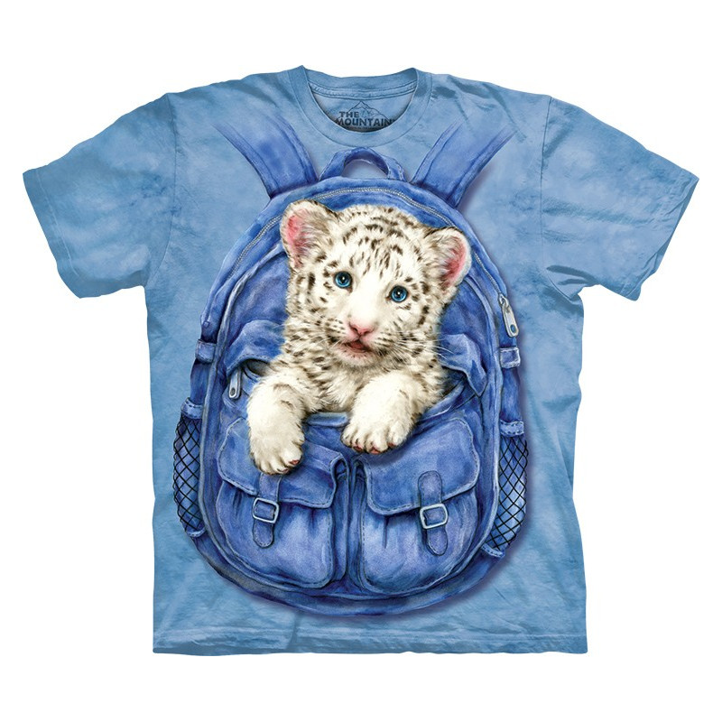 Backpack White Tiger