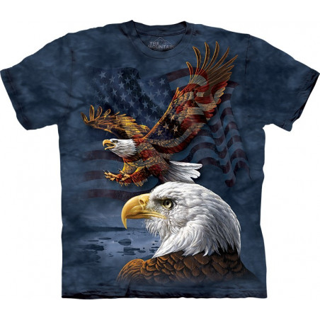 Eagle Flag Collage T-Shirt The Mountain