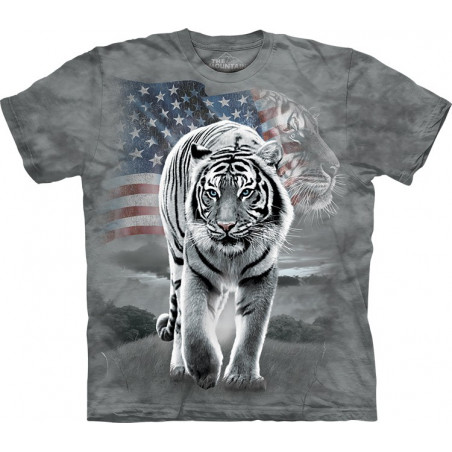 Patriotic Tiger T-Shirt The Mountain