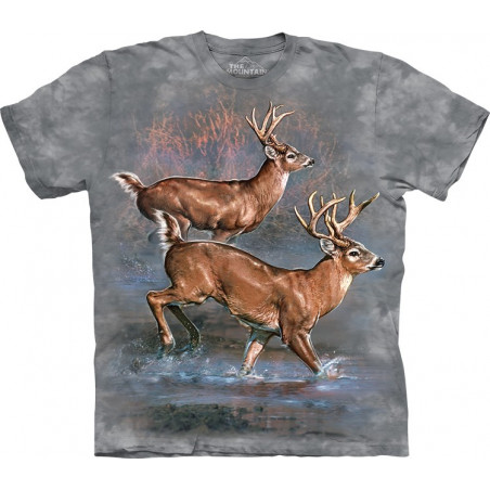 Deer Whitetail Run T-Shirt