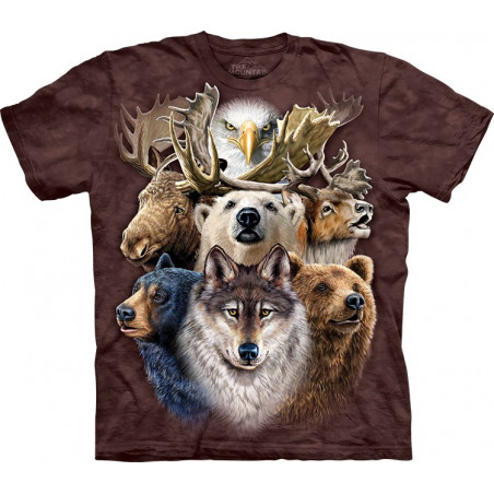 Northern Wildlife Collage T-Shirt The Mountain