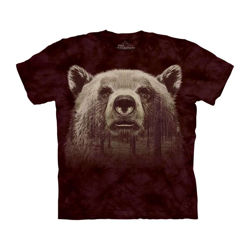 The mountain bear face forest t shirt for Bear river workwear shirts