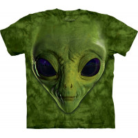 Green Alien Face