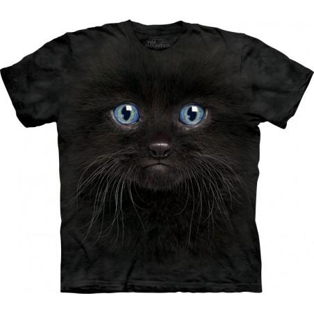 Black Kitten Face T-Shirt The Mountain
