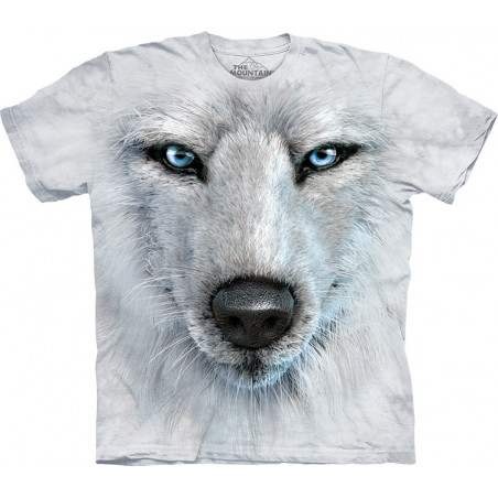 White Wolf Face T-Shirt