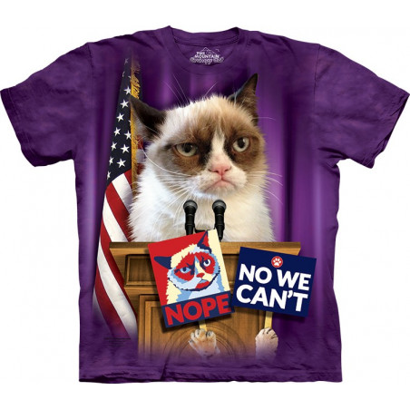 Cat Grumpy for President T-Shirt