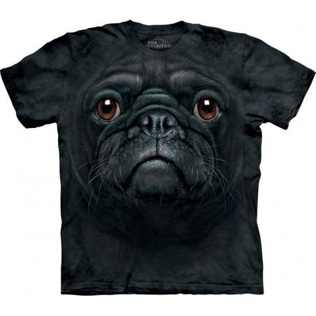 Black Pug Face T-Shirt The Mountain