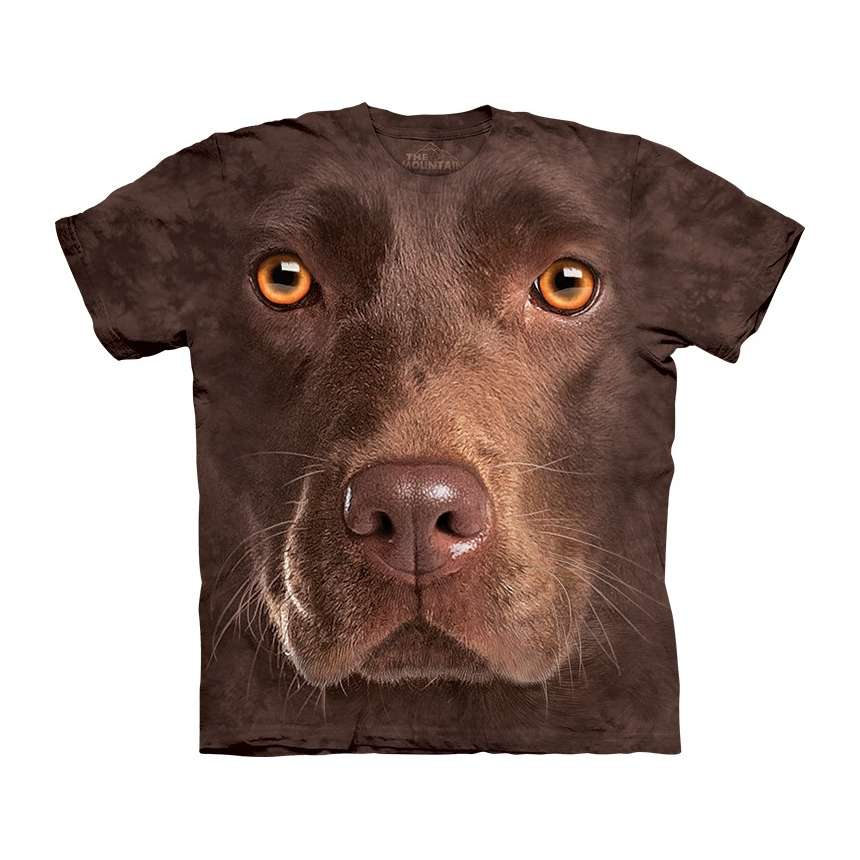 Neat T-shirt Company Chocolate-lab-face-t-shirt-the-mountain