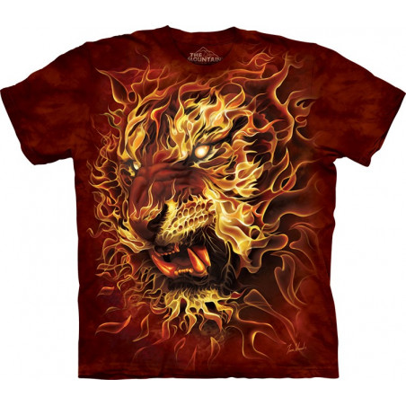 Graphic Fire Tiger T-Shirt