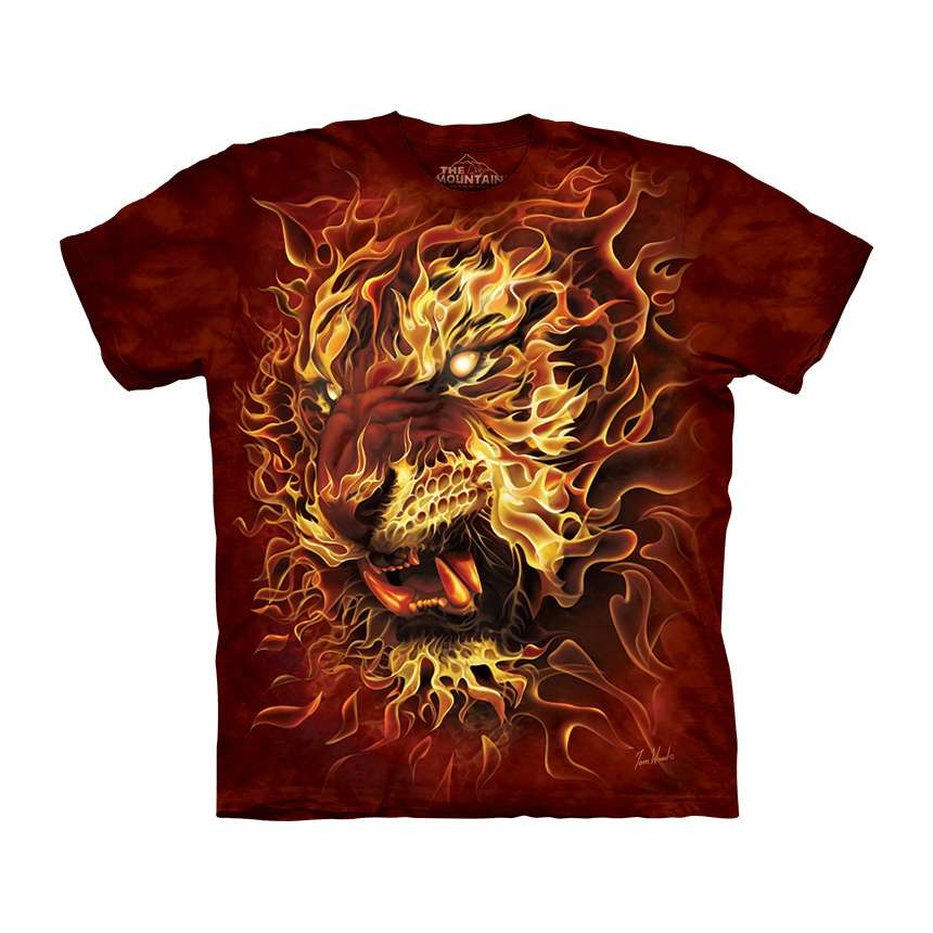 the mountain fire tiger t shirt. Black Bedroom Furniture Sets. Home Design Ideas