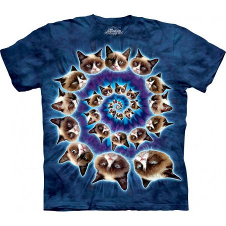 Cat Grumpy Spiral T-Shirt