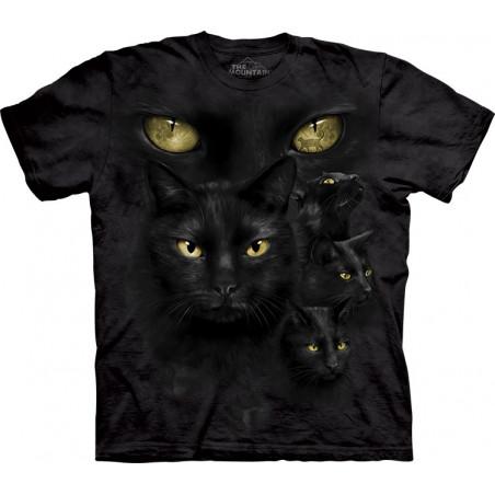Black Cat Moon Eyes T-Shirt The Mountain