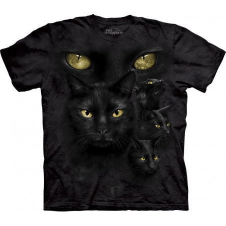 Black Cat Moon Eyes T-Shirt