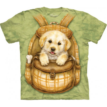 Dog Puppy Backpack T-Shirt The Mountain