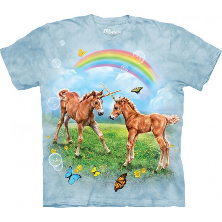Dueling Unicorn Twins T-Shirt The Mountain