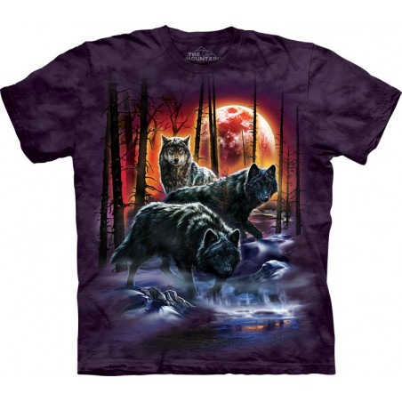 Fire And Ice Wolves T-Shirt