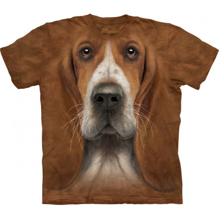 Basset Hound Head T-Shirt