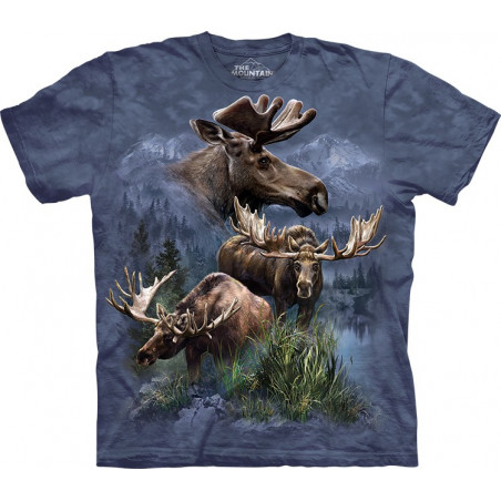 Moose Collage T-Shirt The Mountain