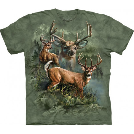 Deer Collage T-Shirt The Mountain