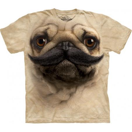 Big Face PugStache T-Shirt The Mountain