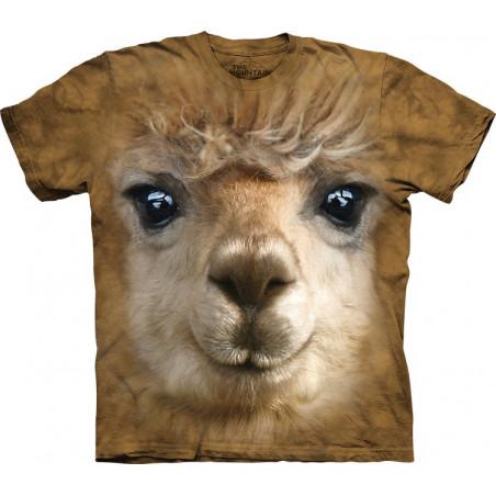 Face T Shirt Big Face Alpaca T-Shirt The Mountain