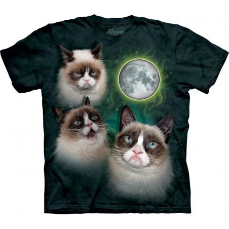 Three Grumpy Cat Moon T-Shirt