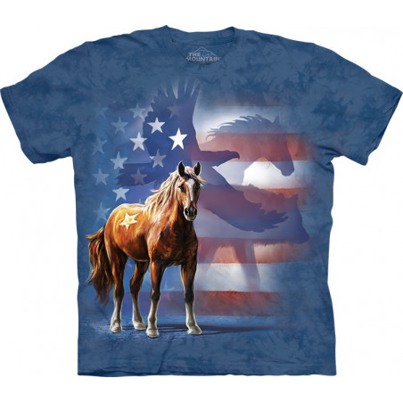 Horse Wild Star Flag T-Shirt
