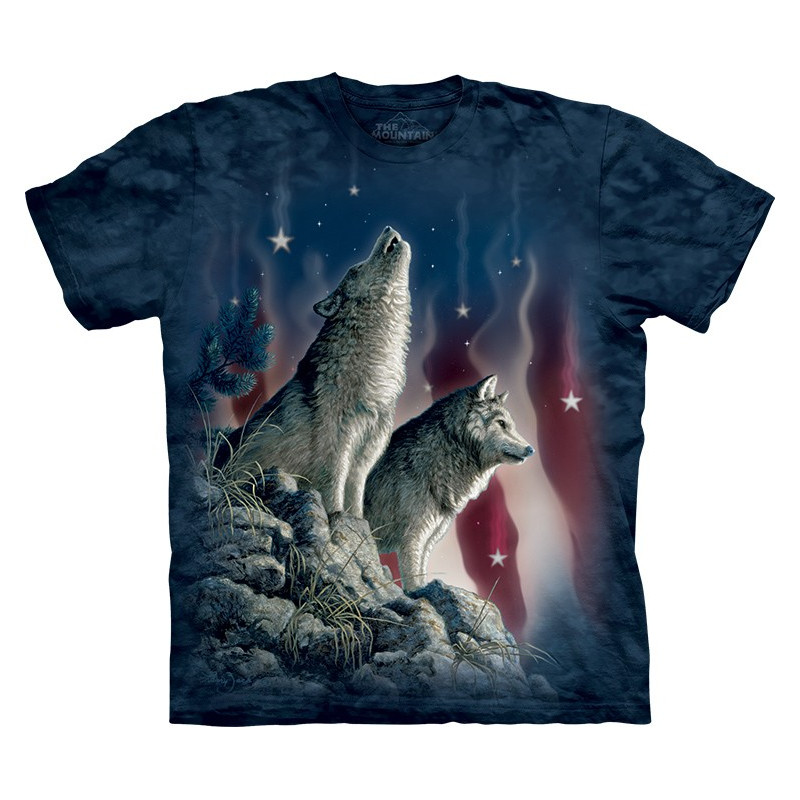 Wolves Falling Stars T Shirt The Mountain