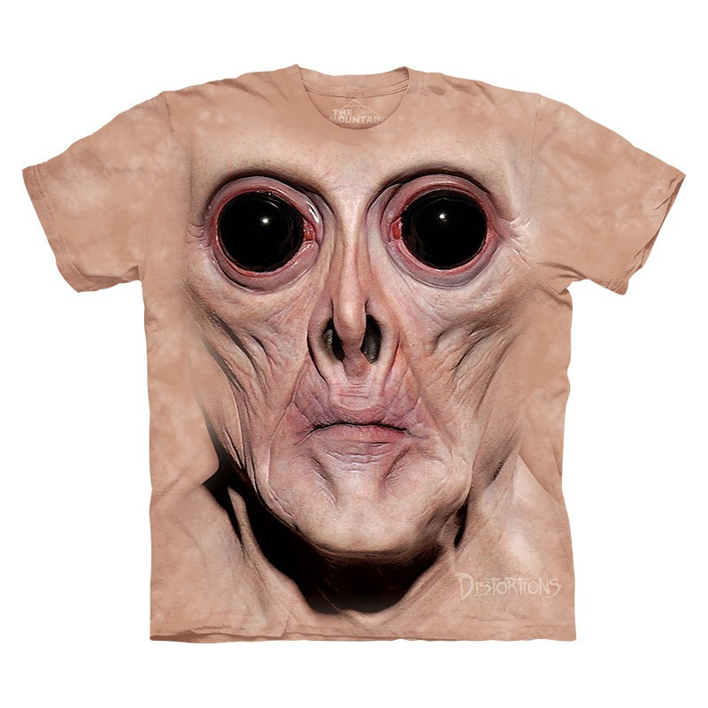 Big Face Krem T Shirt The Mountain Clothingmonster Com