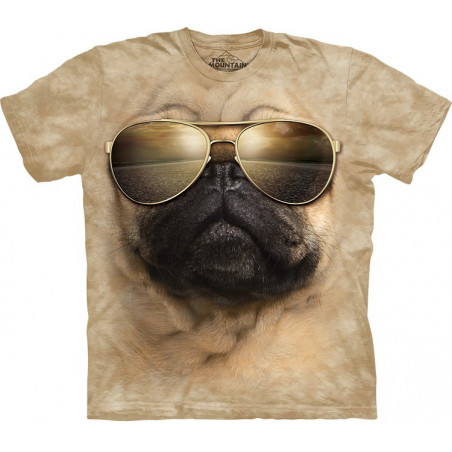 Aviator Pug T-Shirt The Mountain