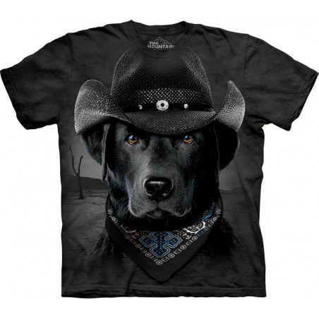 3D Shirts With Dogs On Them Cowboy Lab T-Shirt The Mountain