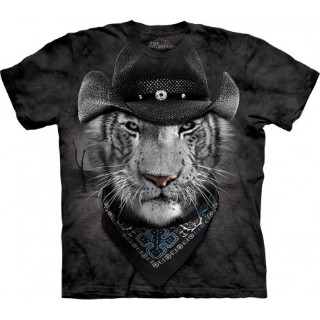 Cowboy White Tiger T-Shirt The Mountain