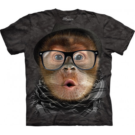 Hipster Orangutan Baby T-Shirt The Mountain