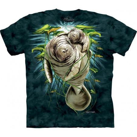 Manatee Mom & Calf T-Shirt The Mountain