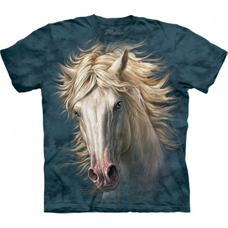 White Horse Portrait T-Shirt