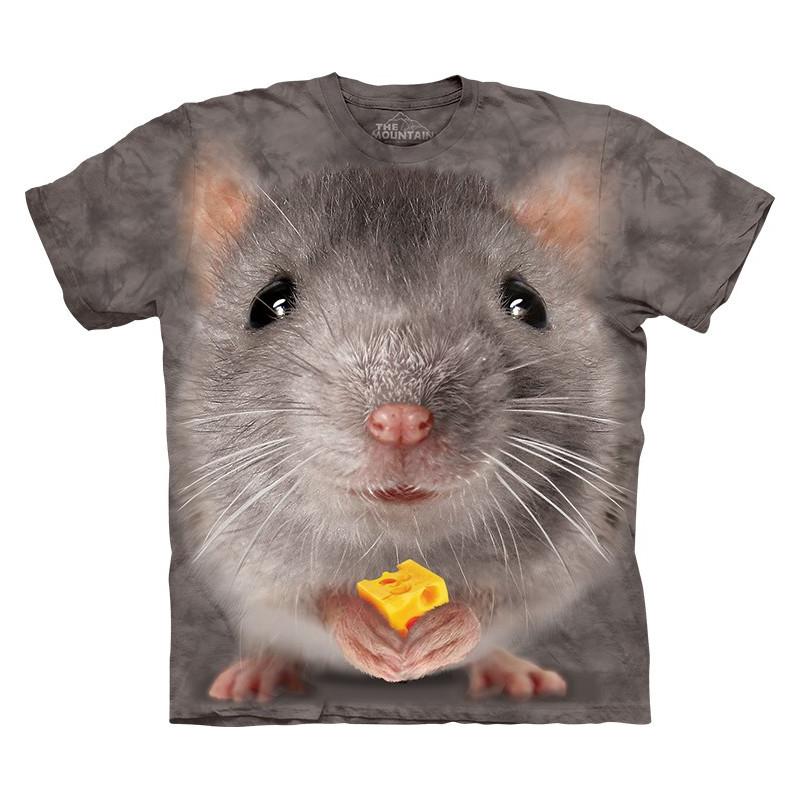 Big Face Grey Mouse T Shirt The Mountain Clothingmonster Com