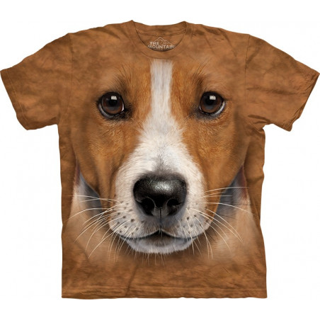 3D Big Face Jack Russell Terrier T-Shirt