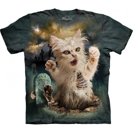 Zombie Cat T-Shirt The Mountain