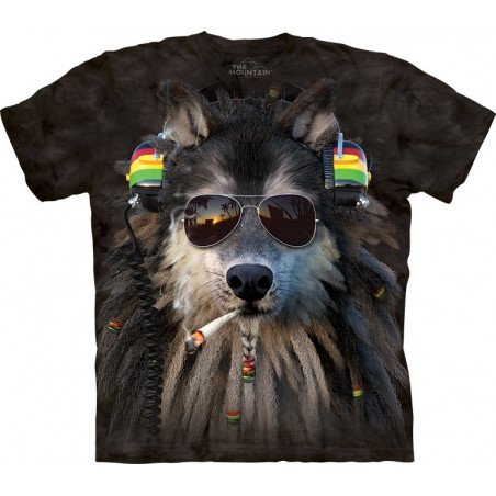 Smoking Rasta Wolf T-Shirt The Mountain