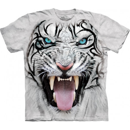 Big Face Tribal White Tiger