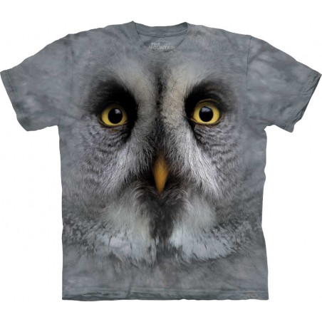 Great Grey Owl Face T-Shirt The Mountain