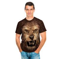 Big Face Roaring Lion T-Shirt