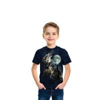 Three Wolf Moon in Blue T-Shirt