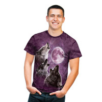 Three Wolf Moon in Purple T-Shirt