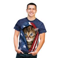 Patriotic Kitten T-Shirt
