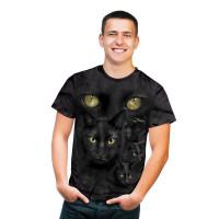 Black Cat Moon Eyes T-Shirt