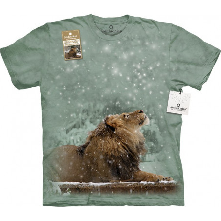 Lion Luke In Snowfall T-Shirt The Mountain