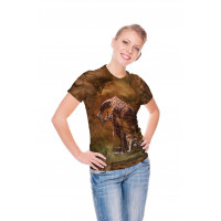 Giraffe Sunset T-Shirt