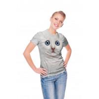 Ivory Kitten Face T-Shirt