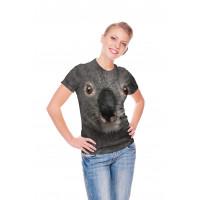 Grey Koala Face T-Shirt